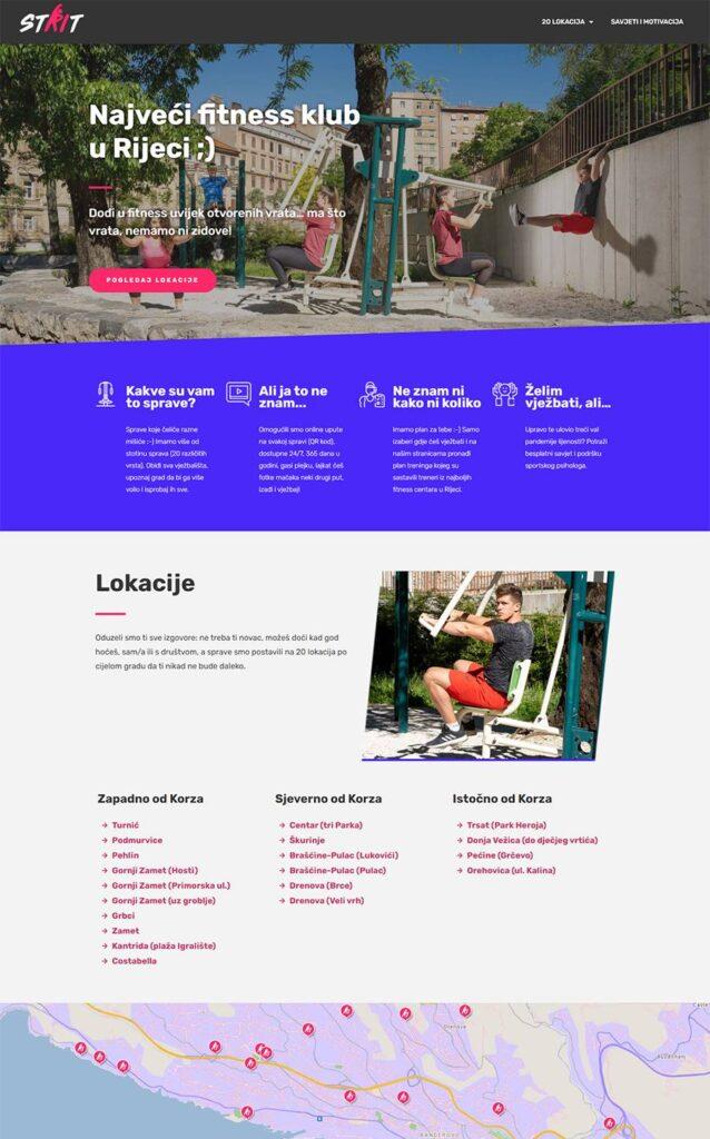 Strit.fitness - Grad Rijeka - web_dizajn